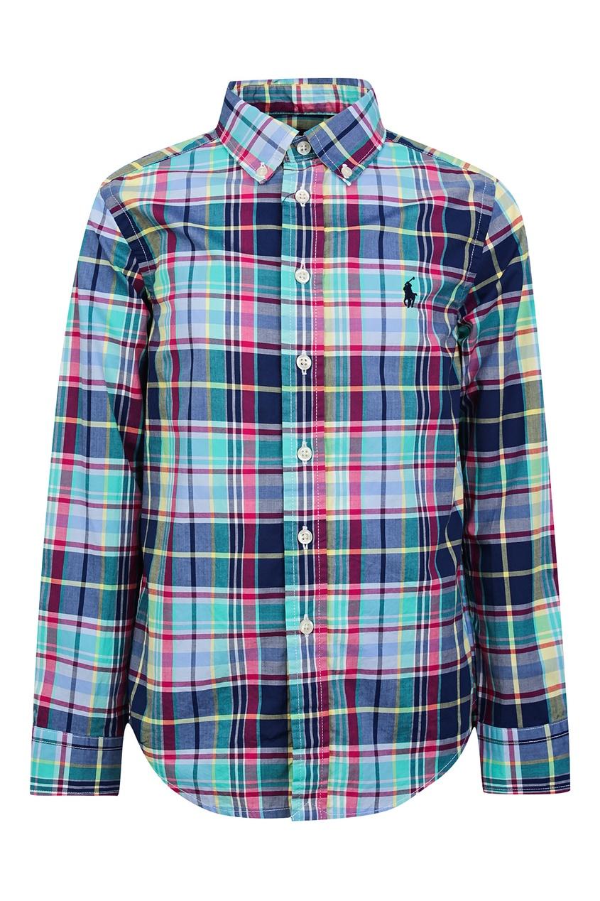 Купить Рубашку в разноцветную клетку от Ralph Lauren Kids цвет multicolor