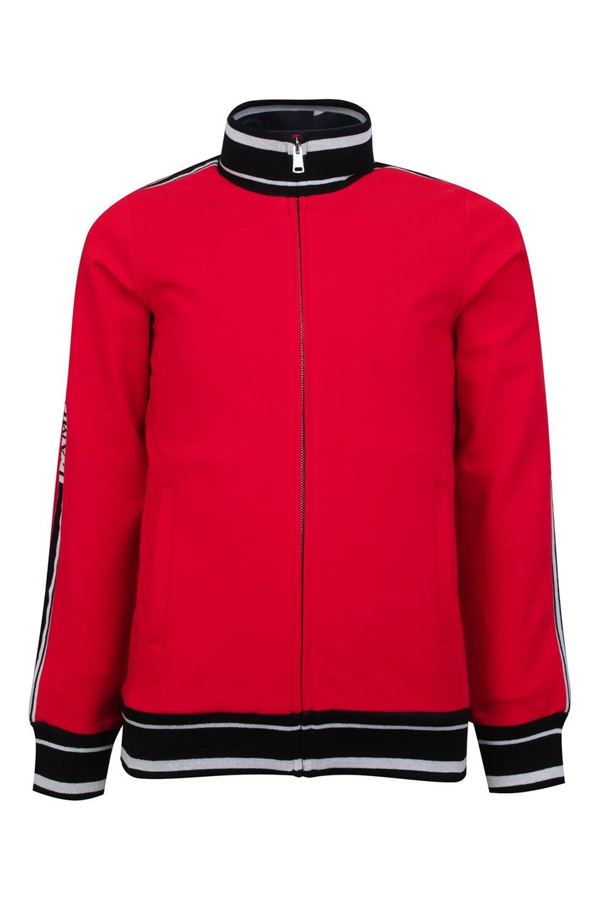 Красная олимпийка с контрастной отделкой Dolce&Gabbana Children