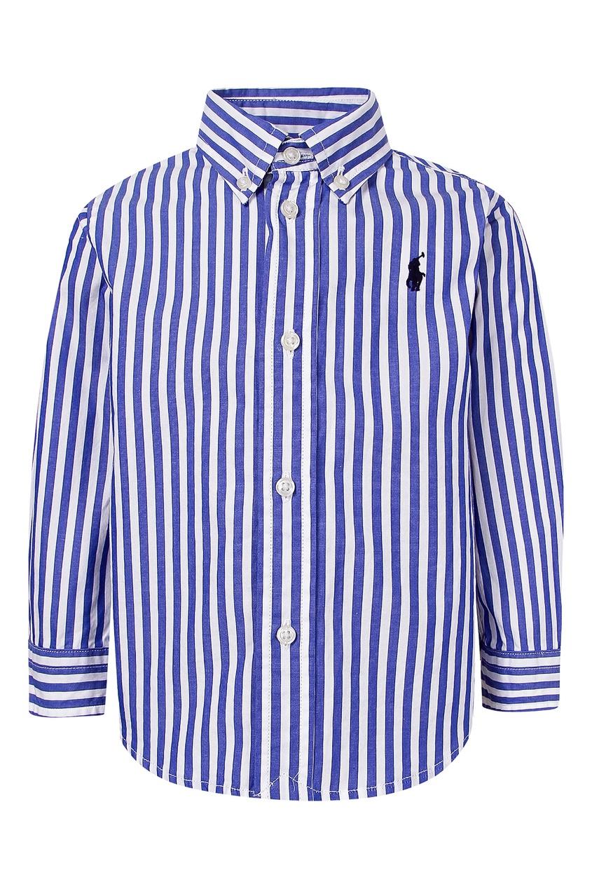 Купить Рубашку в сине-белую полоску от Ralph Lauren Kids цвет multicolor