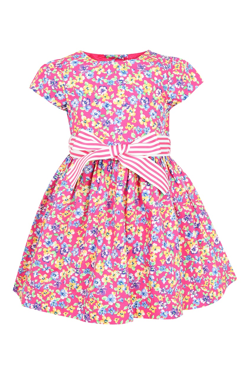 Купить Платье с цветочным принтом от Ralph Lauren Kids розового цвета