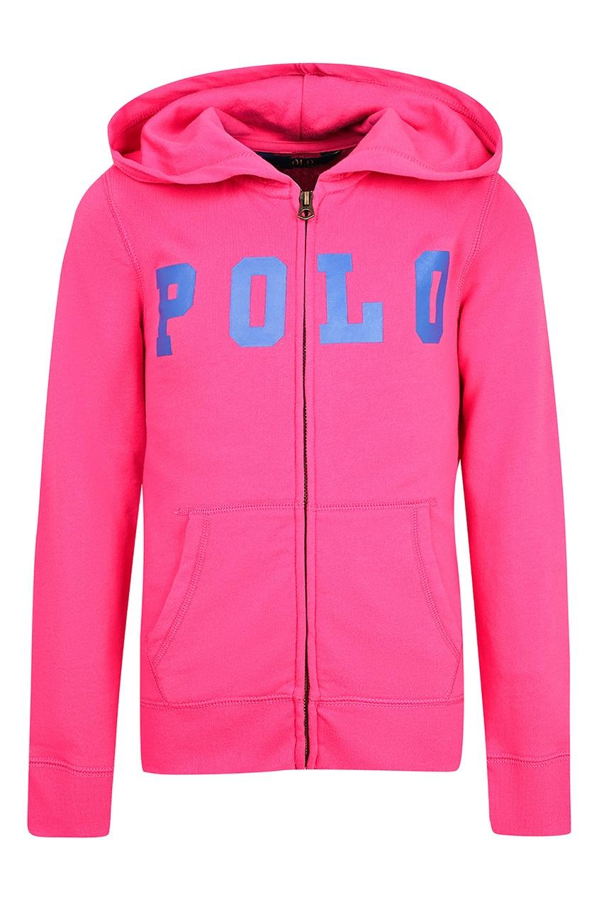 Купить Розовое худи с надписью от Ralph Lauren Kids розового цвета