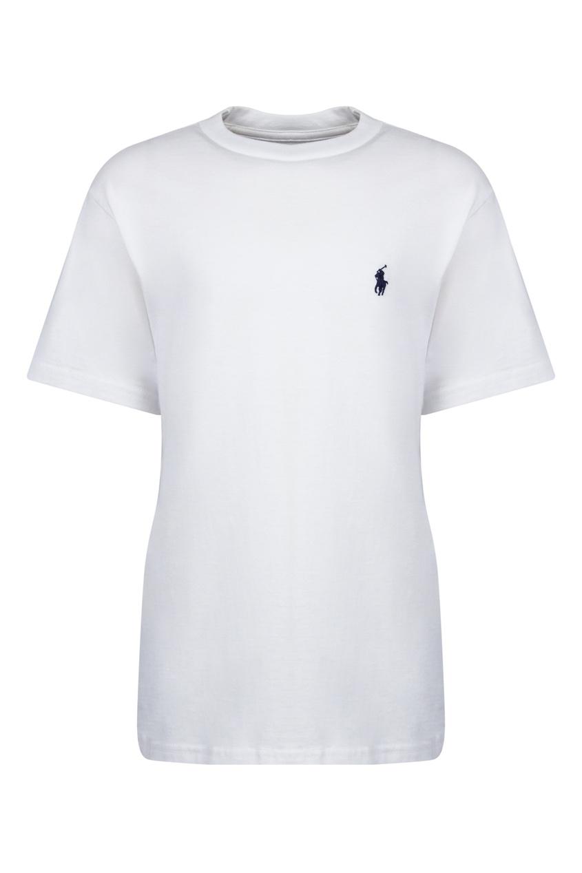Белая футболка с логотипом от Polo Ralph Lauren Kids