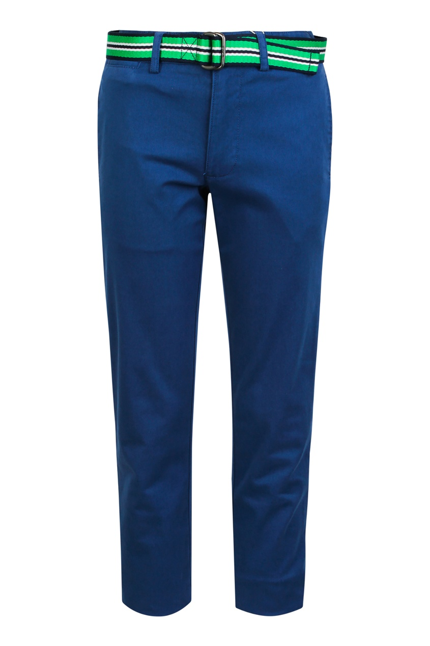 Купить Белые брюки с ремнем от Polo Ralph Lauren Kids белого цвета