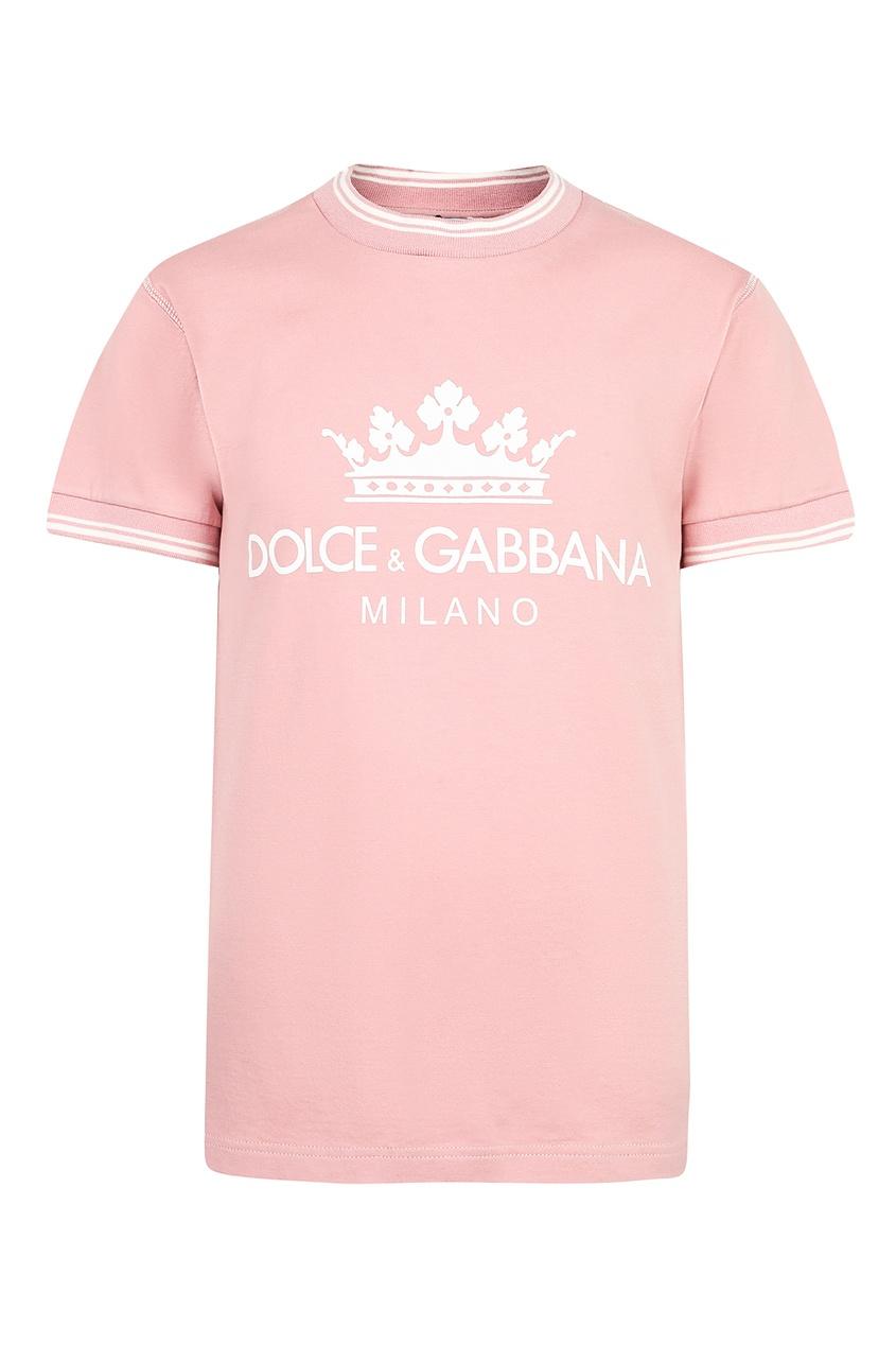 Купить Розовая футболка с логотипом розового цвета