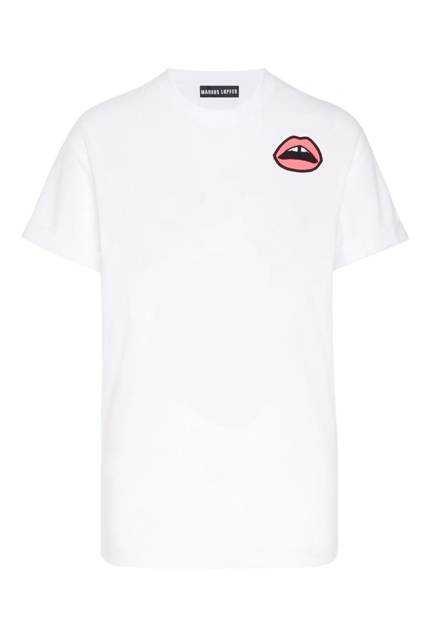 женская футболка markus lupfer, белая