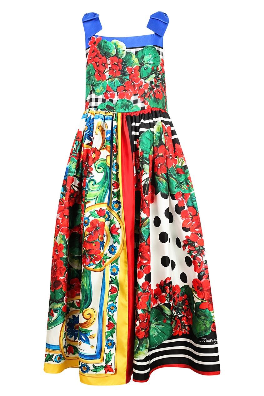 Купить Сарафан с комбинированным принтом цвет multicolor