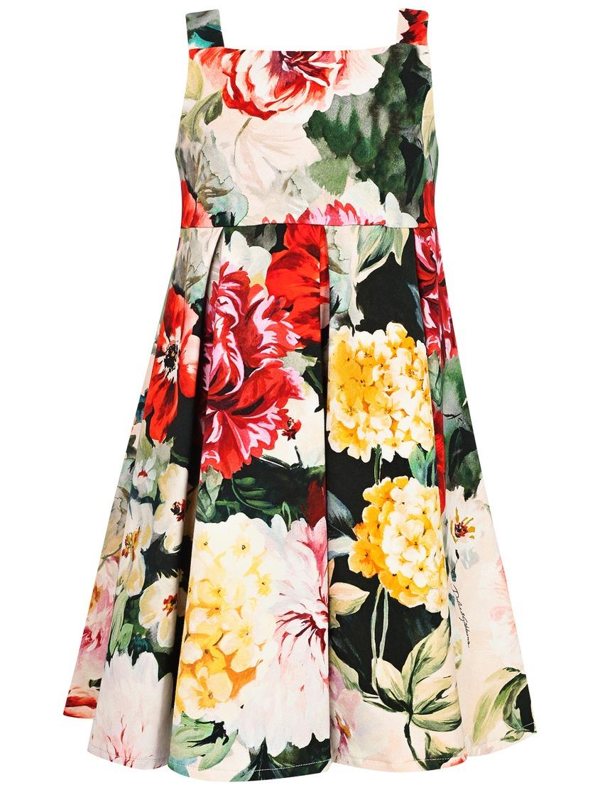 Купить Платье с пестрым принтом цвет multicolor