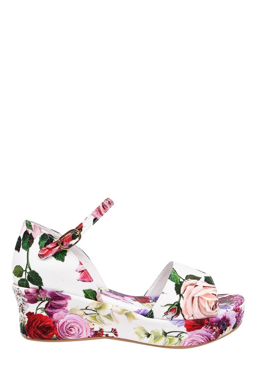 Купить Босоножки с цветочным рисунком цвет multicolor