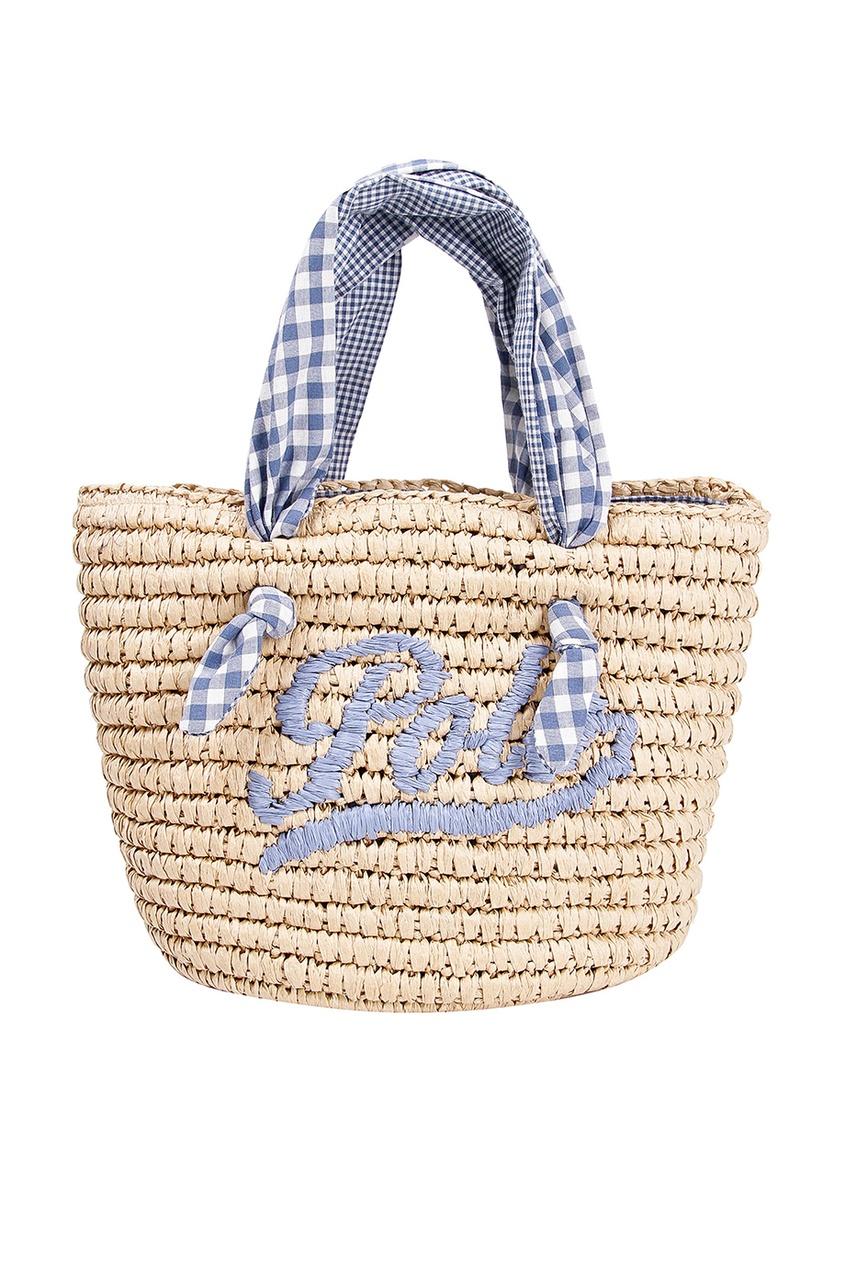 Плетеная пляжная сумка с отделкой Polo Ralph Lauren Kids
