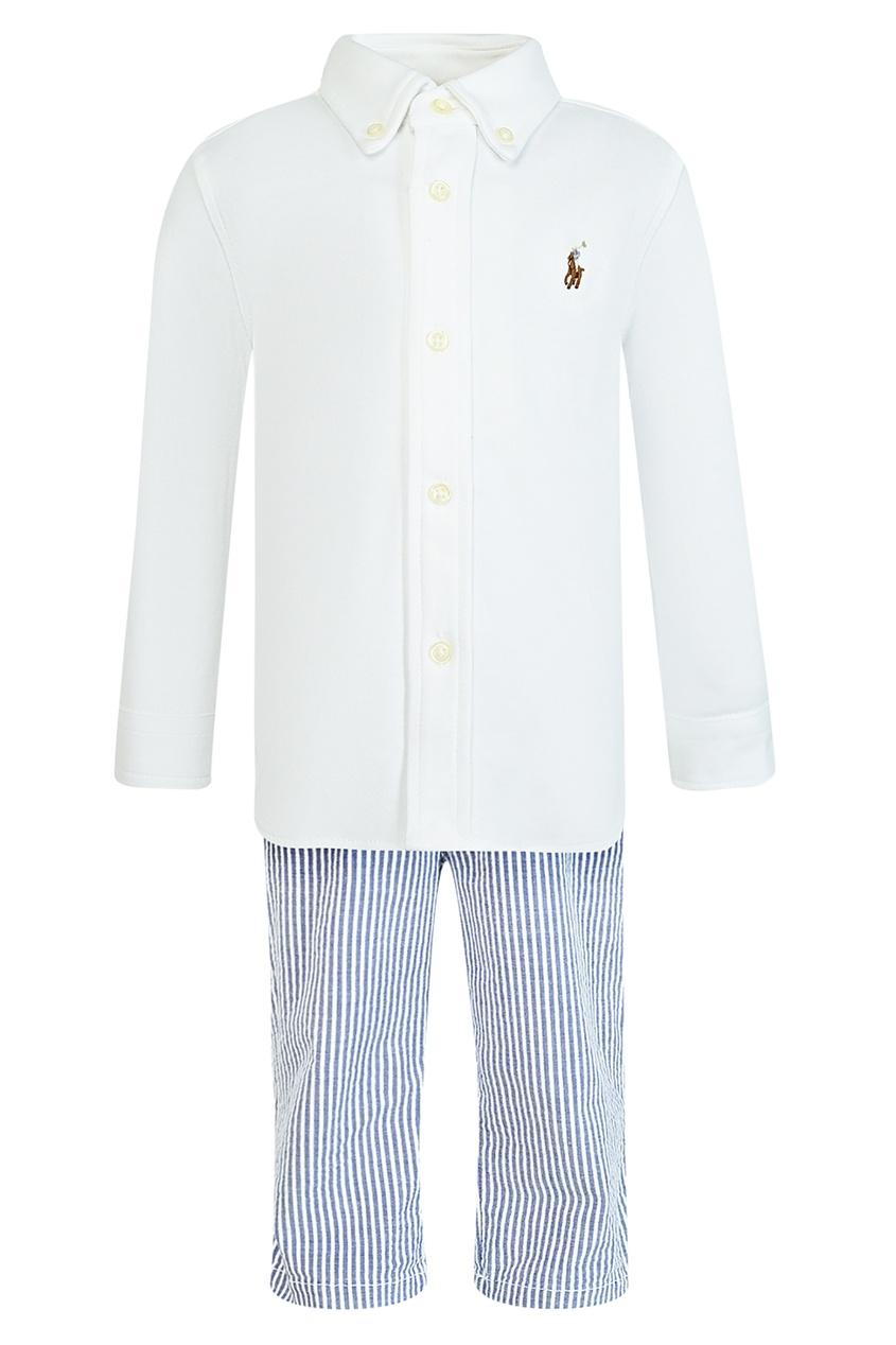 Купить Комплект с рубашкой и брюками от Ralph Lauren Kids белого цвета