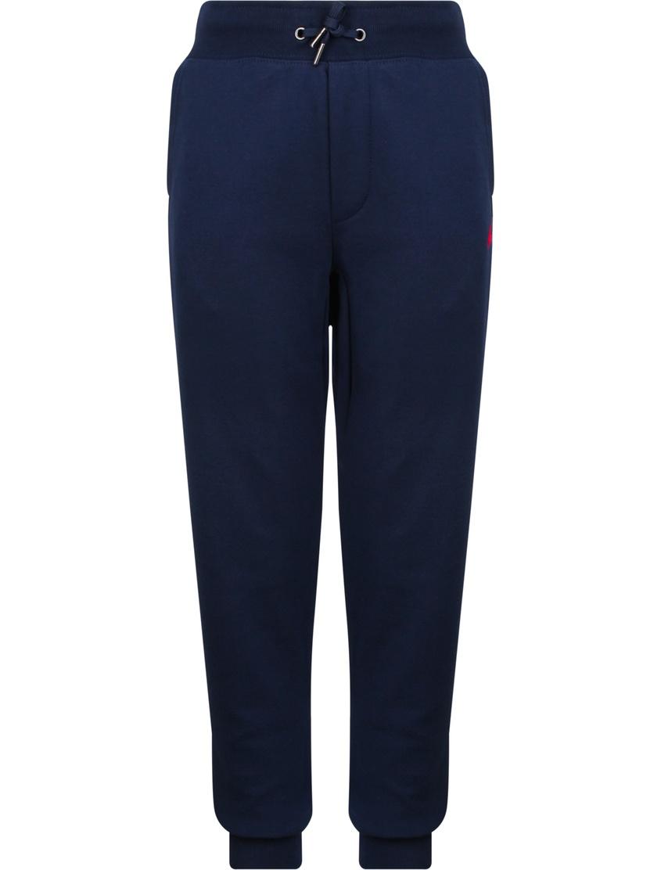 Купить Синие брюки с эластичным поясом от Polo Ralph Lauren Kids синего цвета