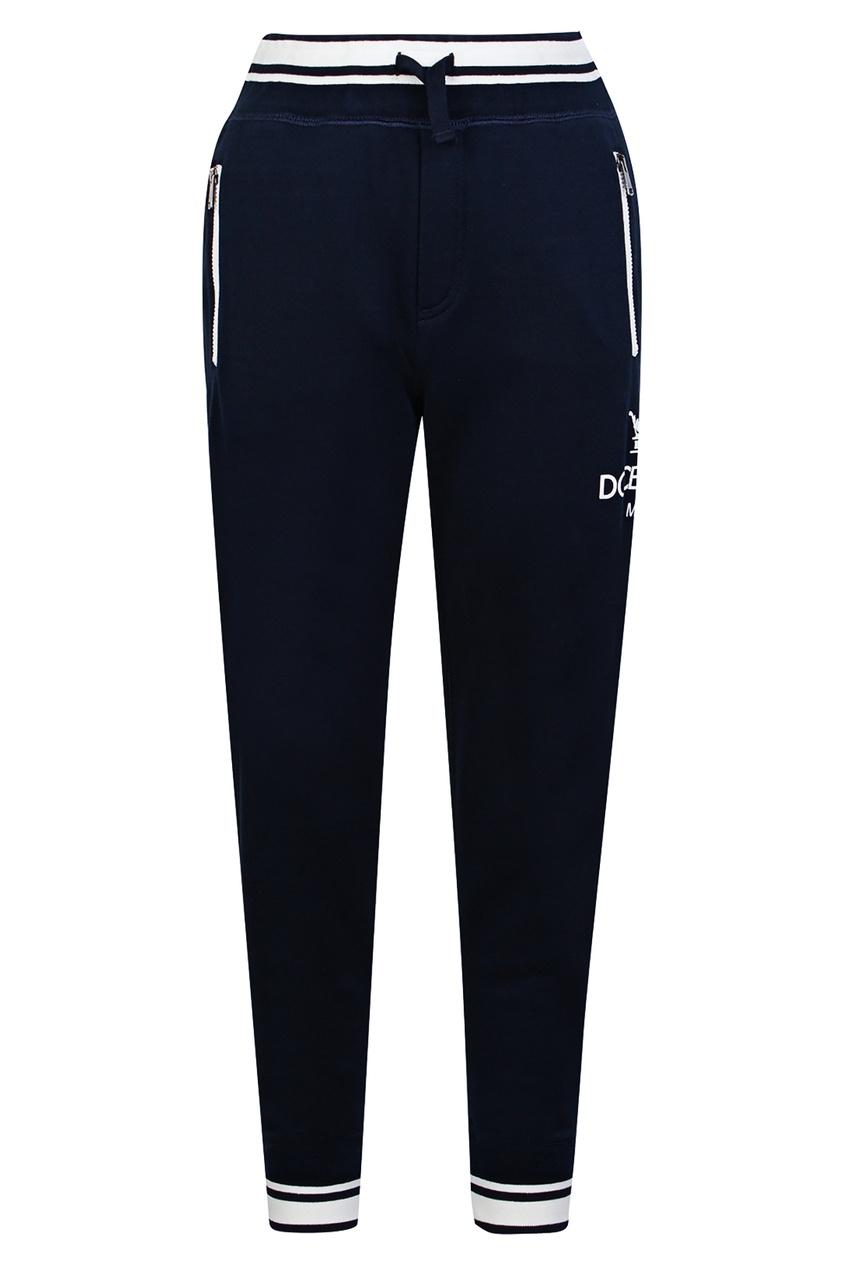 Купить Синие брюки с контрастной отделкой синего цвета