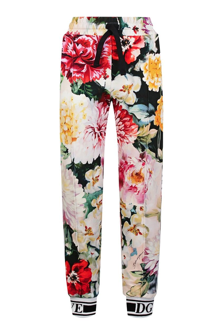 Купить Спортивные брюки с цветочным принтом цвет multicolor