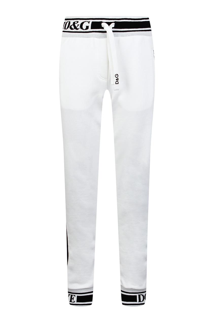 Купить Белые брюки с лампасами белого цвета