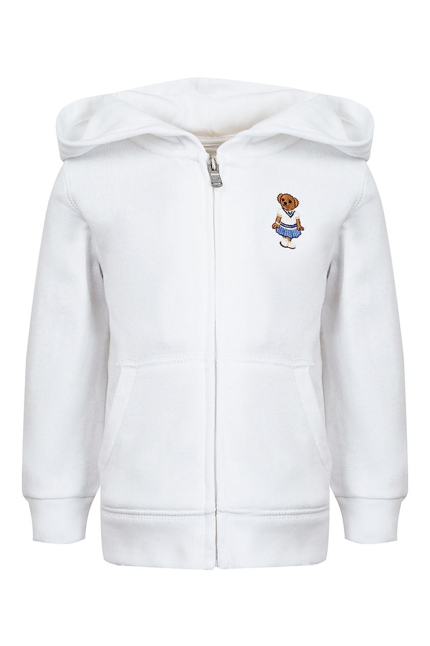 Купить Белое худи с вышивкой от Ralph Lauren Kids белого цвета