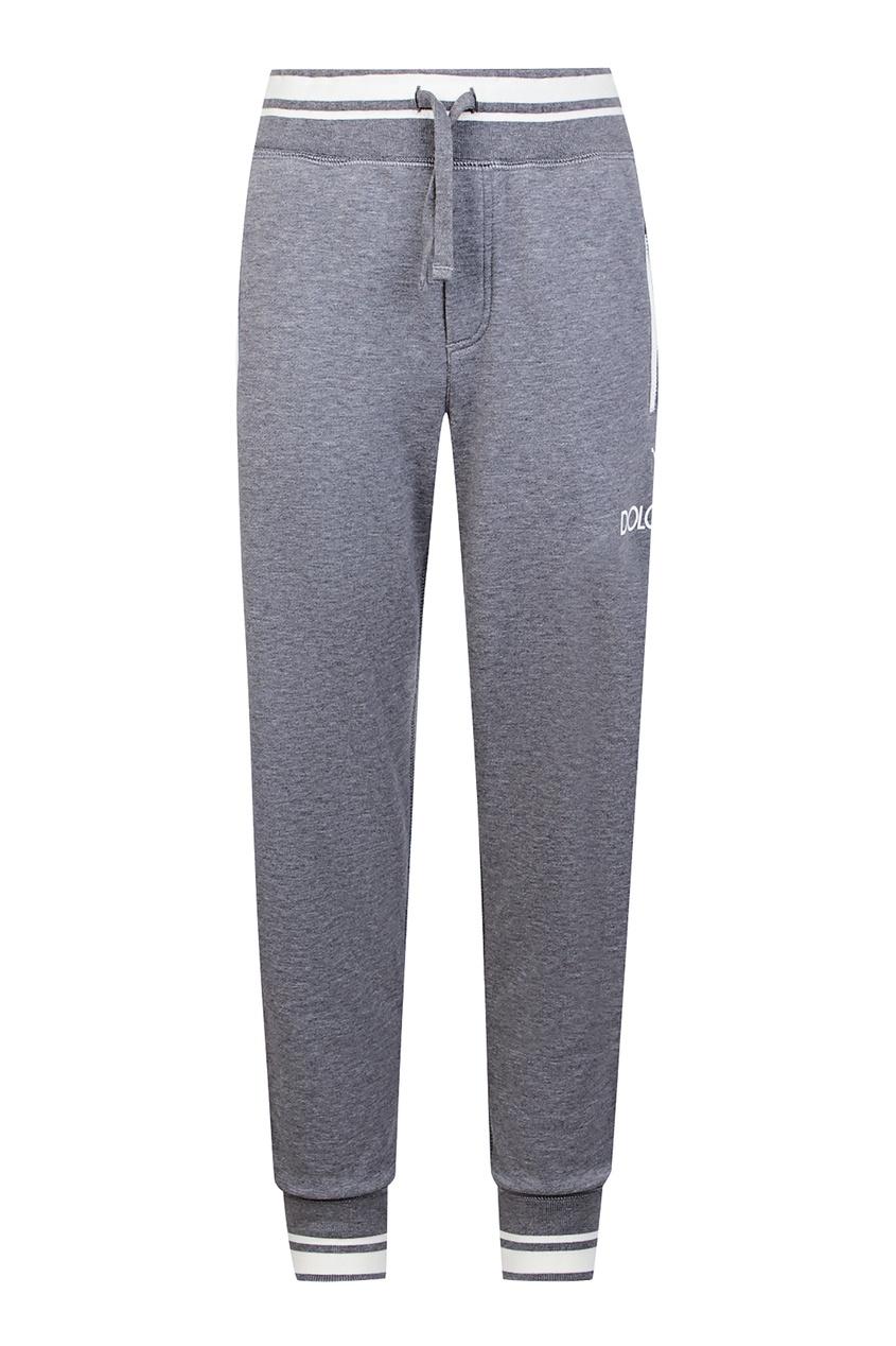 Купить Серые брюки с эластичным поясом серого цвета