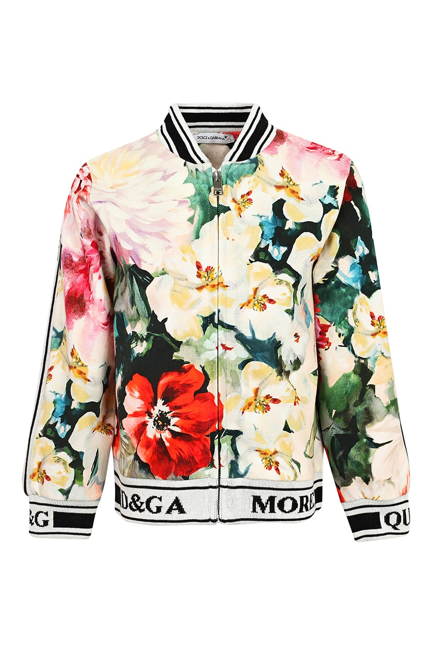 Бомбер с цветочным принтом Dolce&Gabbana. Цвет: multicolor