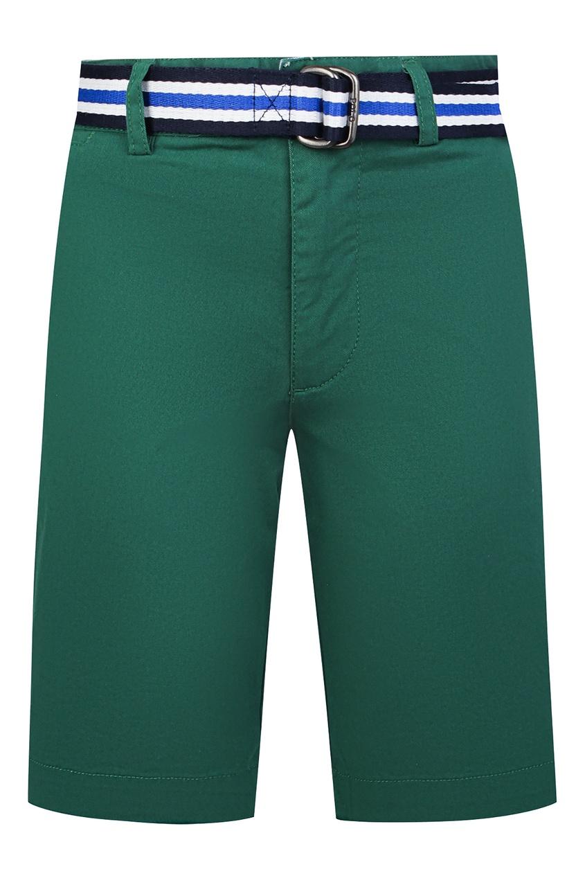 Купить Зеленые шорты с ремнем от Polo Ralph Lauren Kids зеленого цвета
