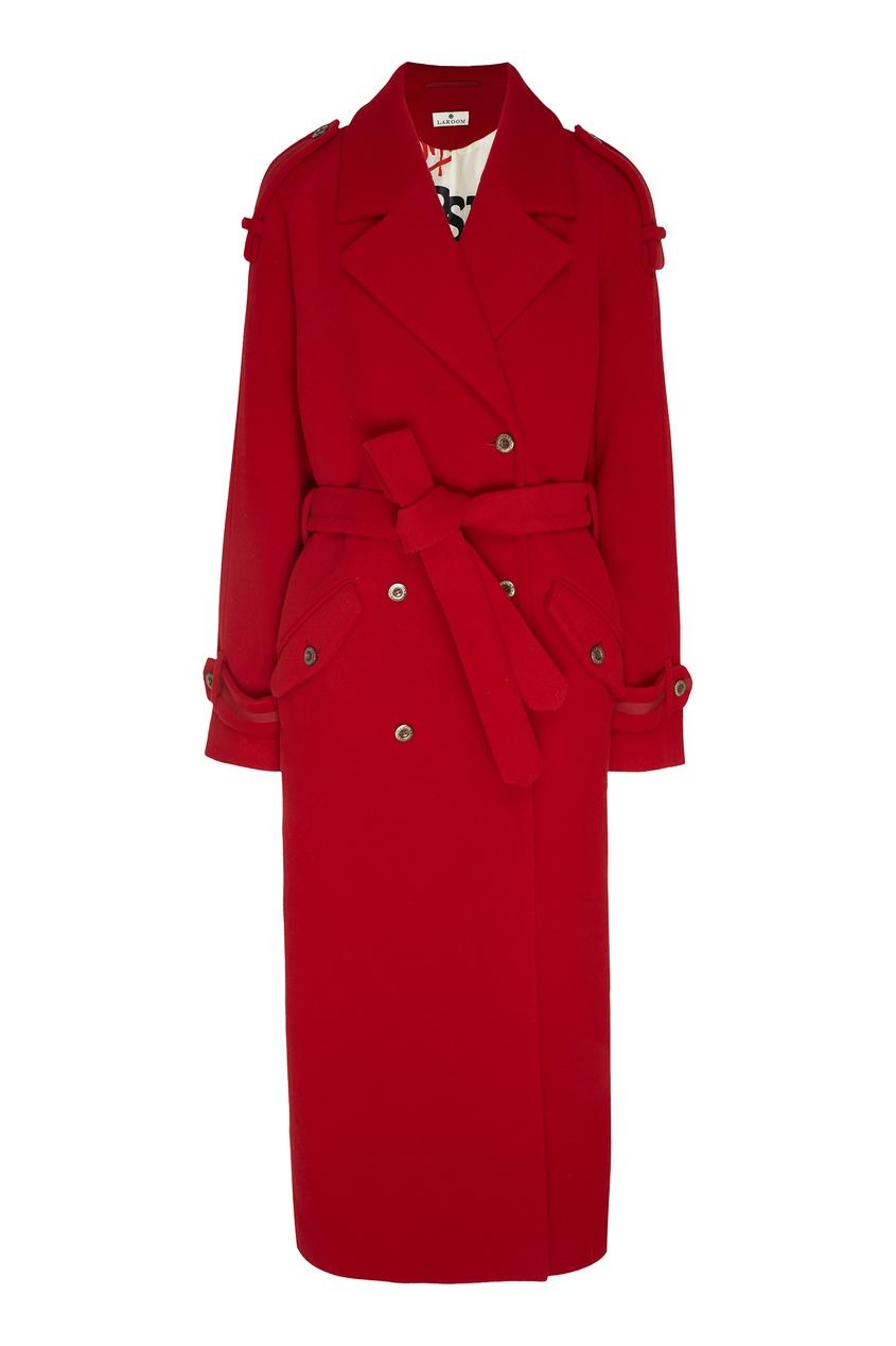 женское пальто laroom, красное