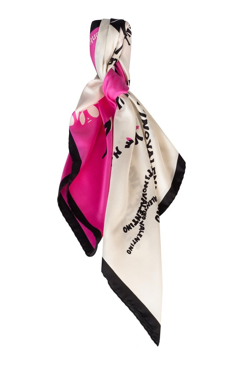 женский платок valentino, розовый