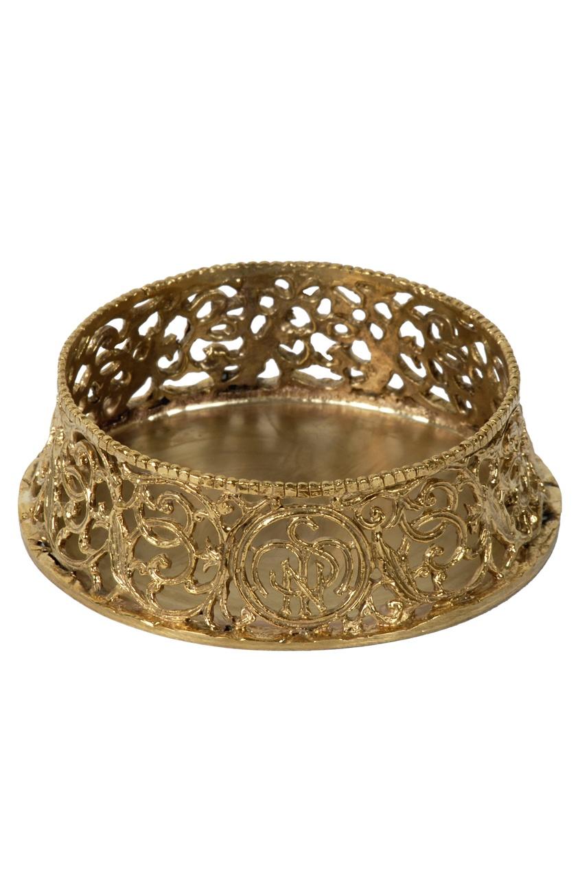 Купить Позолоченный подсвечник, диаметр 8,5 см от Santa Maria Novella золотого цвета