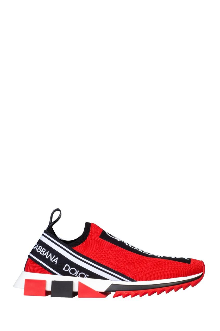 мужские кроссовки dolce & gabbana, красные
