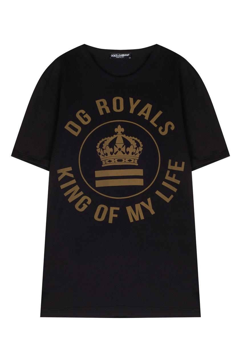 Черная футболка с гербом