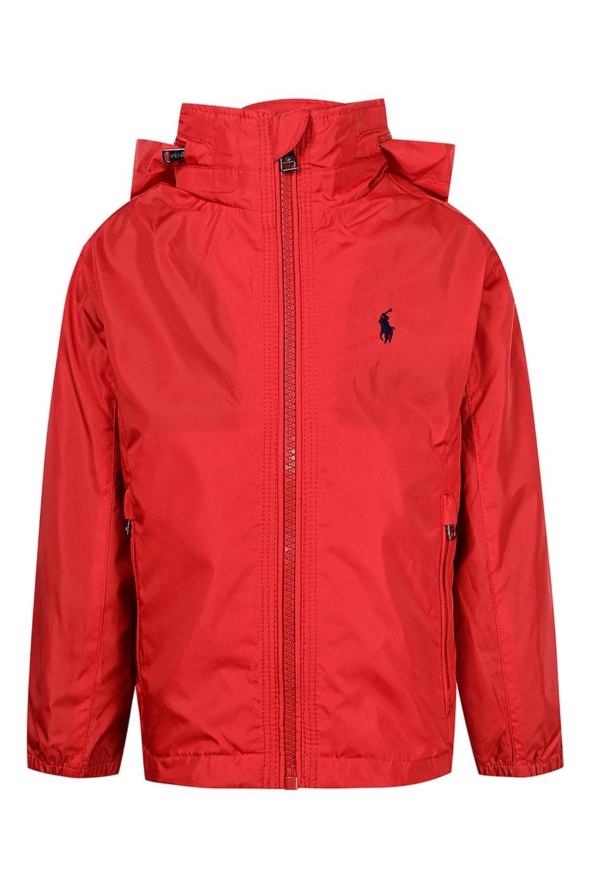 Купить Красная куртка с капюшоном от Polo Ralph Lauren Kids красного цвета