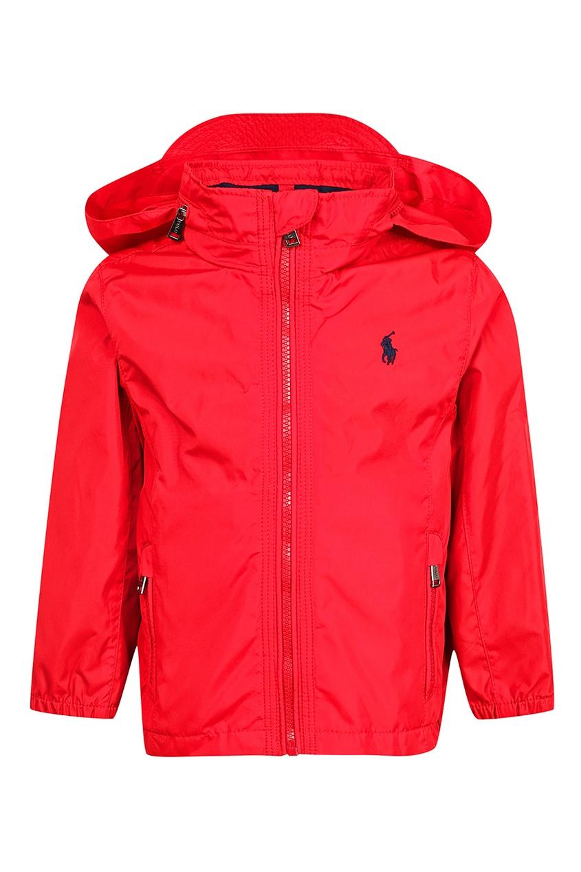 Красная куртка со съемным капюшоном от Ralph Lauren Kids