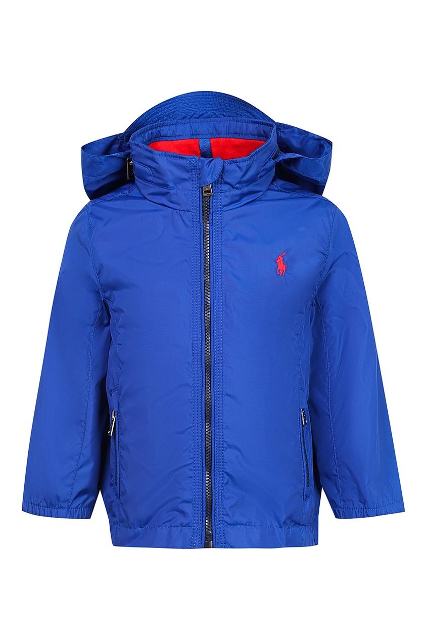 Синяя куртка с капюшоном от Ralph Lauren Kids