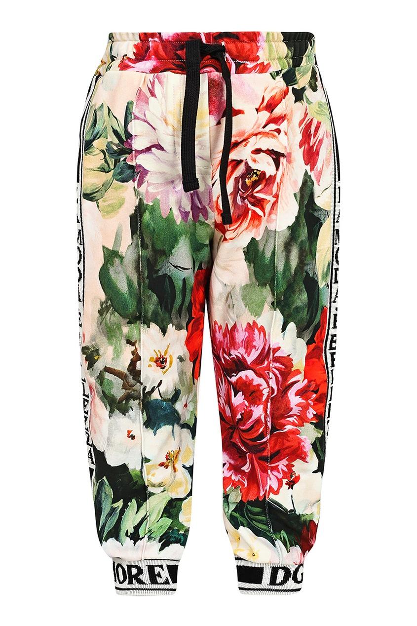 Купить Брюки с цветочным принтом цвет multicolor