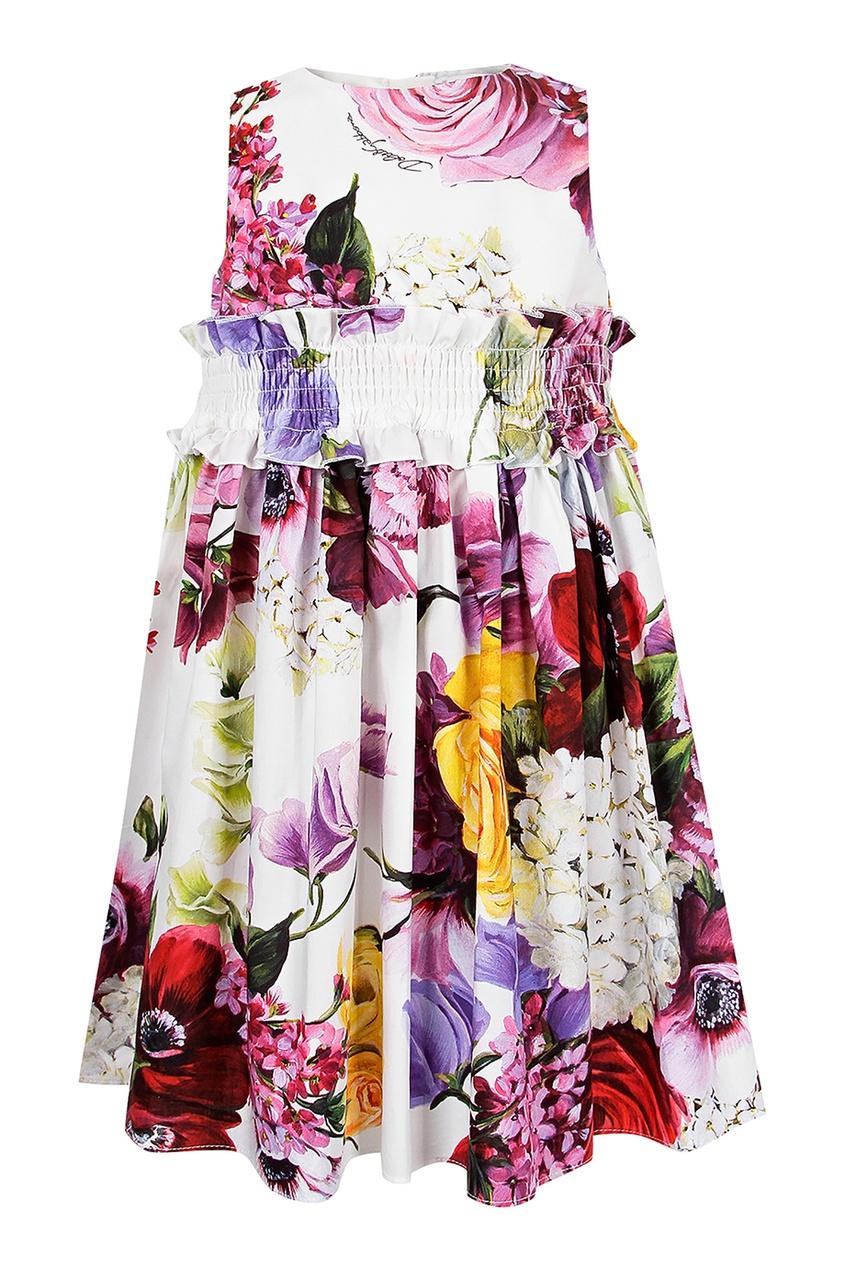 Купить Платье с цветочным принтом с шортами цвет multicolor