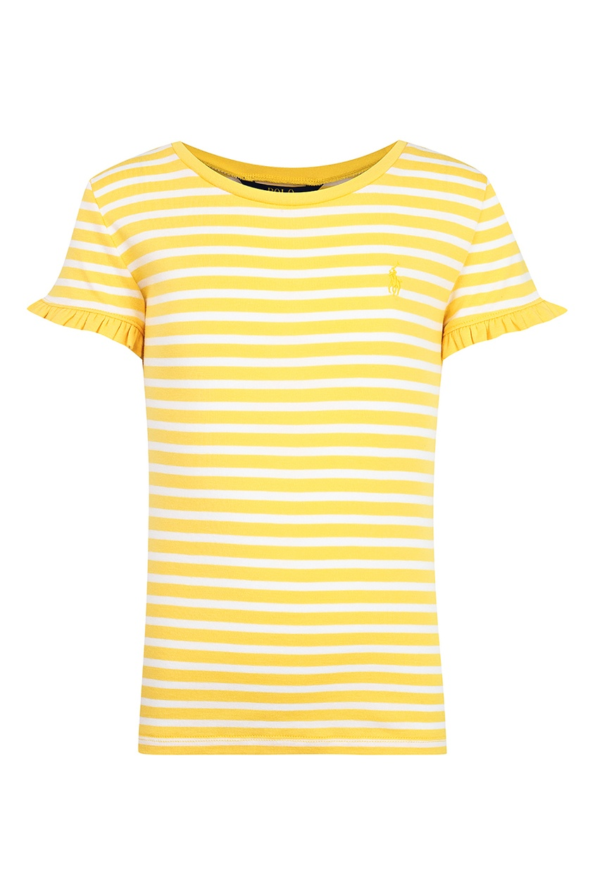 Футболка в желто-белую полоску от Polo Ralph Lauren Kids