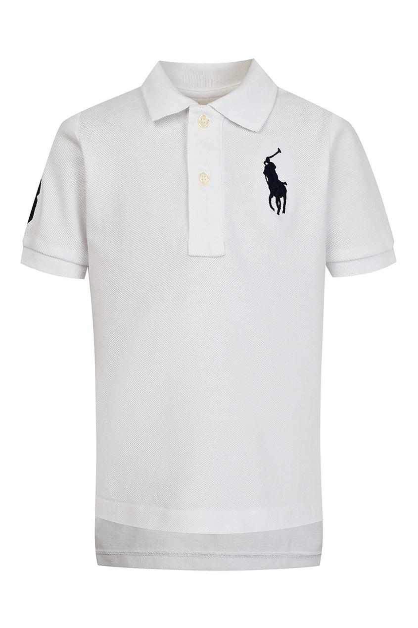 Купить Белое поло с цифрой от Ralph Lauren Kids белого цвета