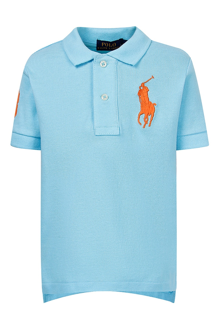 Голубое поло с цифрой от Polo Ralph Lauren Kids