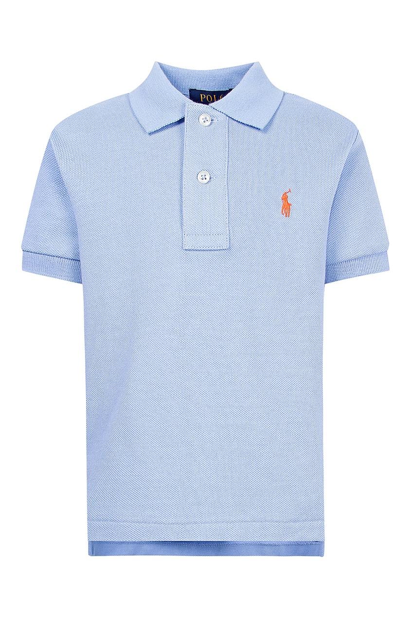 Купить Голубое поло от Polo Ralph Lauren Kids голубого цвета