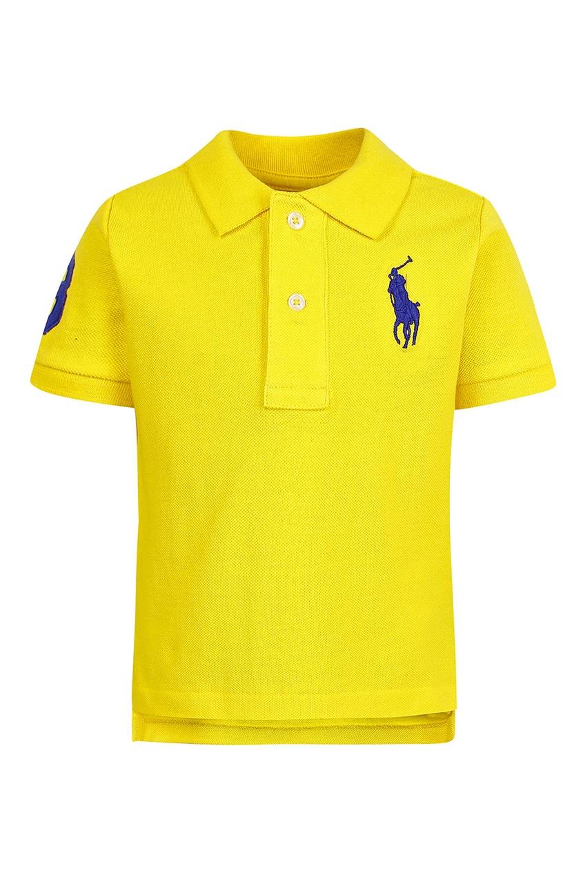 Купить Желтое поло с цифрой от Ralph Lauren Kids желтого цвета