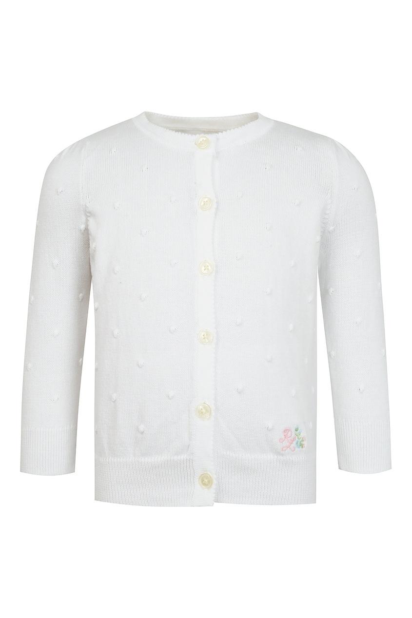 Купить Белый кардиган от Ralph Lauren Kids белого цвета
