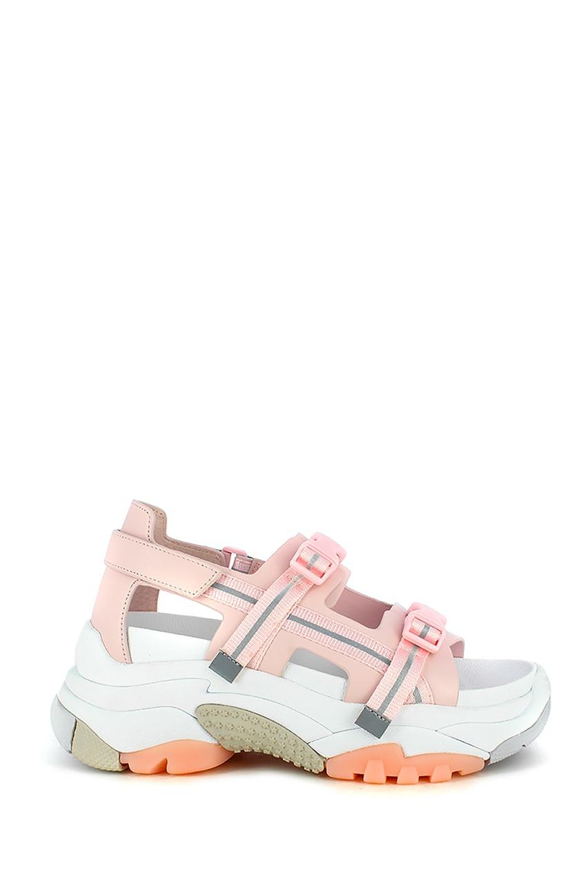 Купить со скидкой Розовые сандалии в спортивном стиле