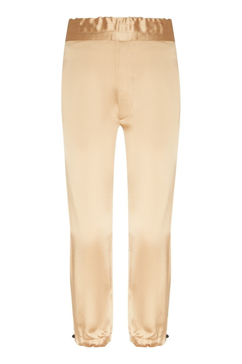 Купить Бежевые брюки из атласной ткани от Unravel Project бежевого цвета