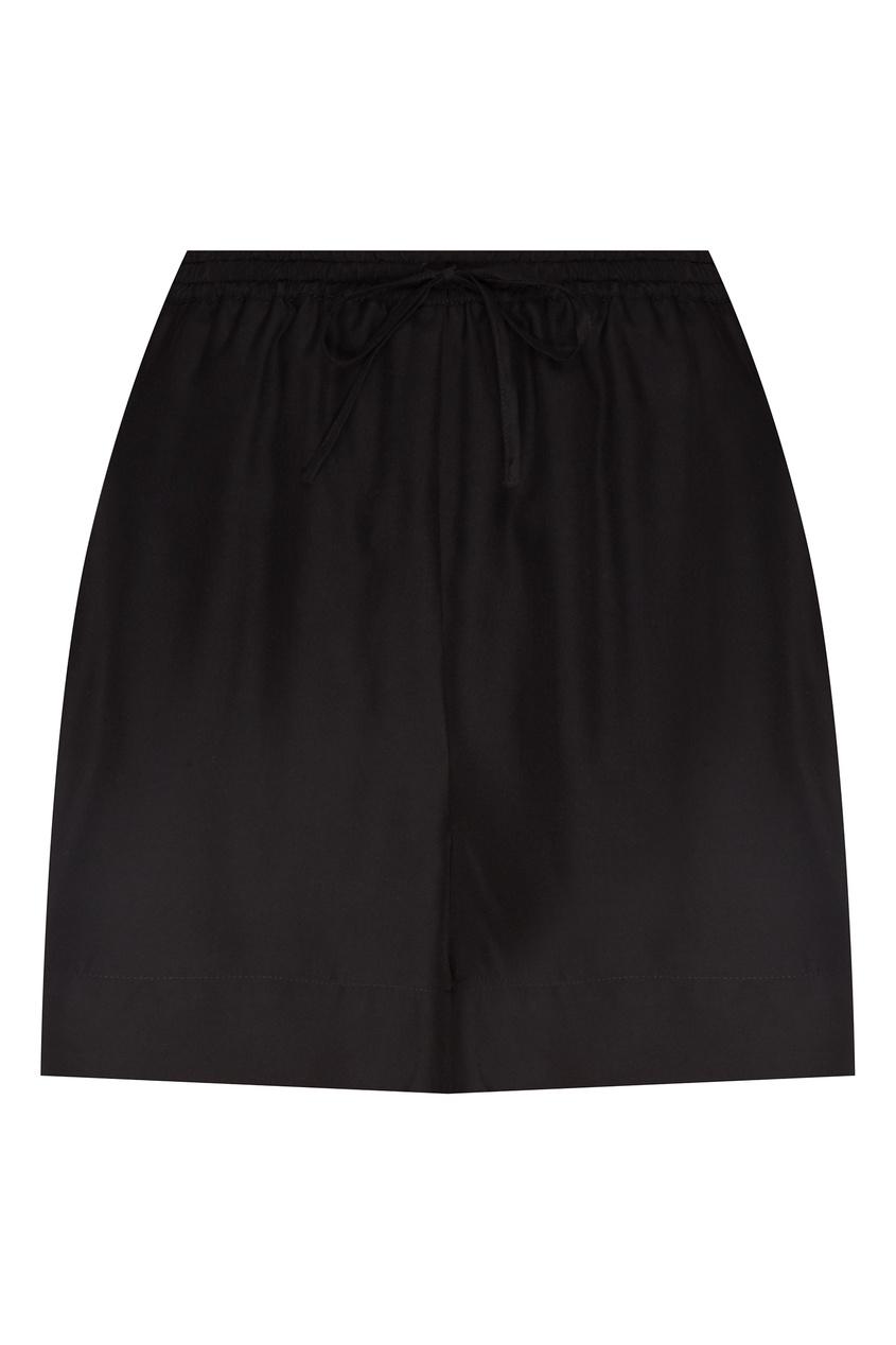 Купить Шелковые шорты черного цвета от P.A.R.O.S.H. черного цвета