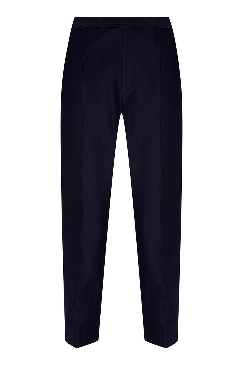 Купить Синие хлопковые брюки от Gucci Man синего цвета