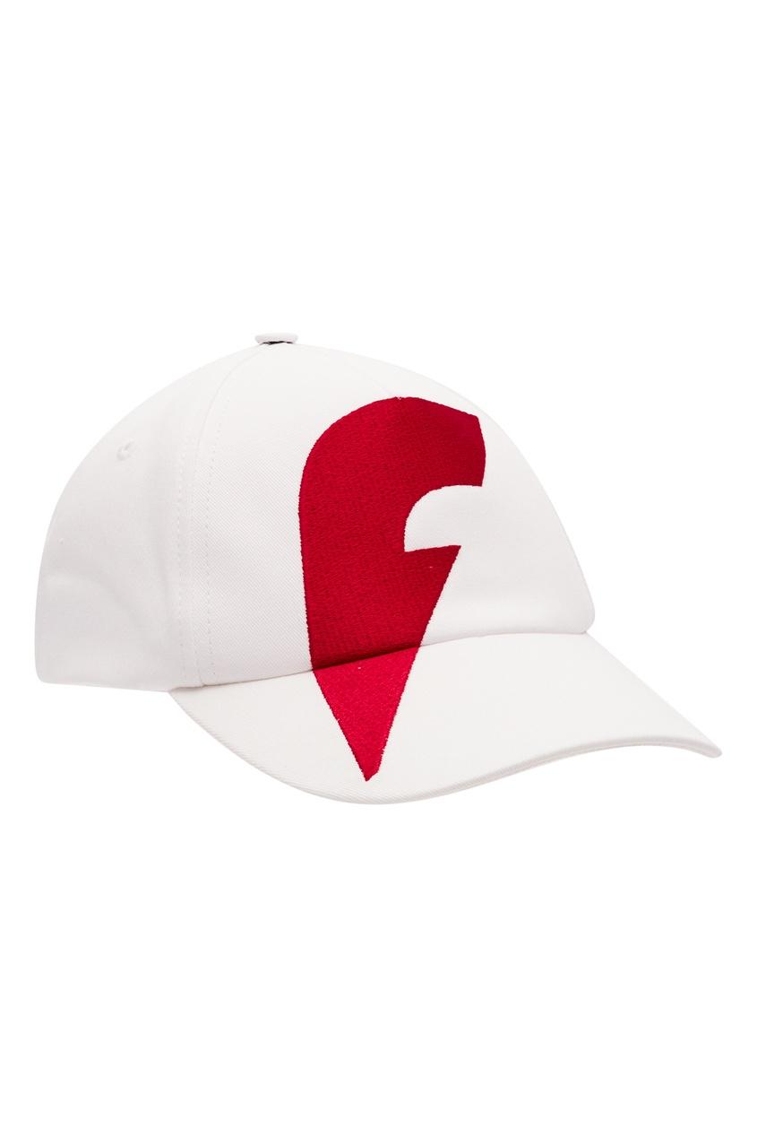 Купить Белая бейсболка с логотипом от FWDlab белого цвета