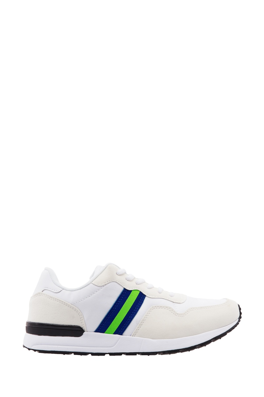 Купить Белые кроссовки с контрастными вставками от FWDlab белого цвета