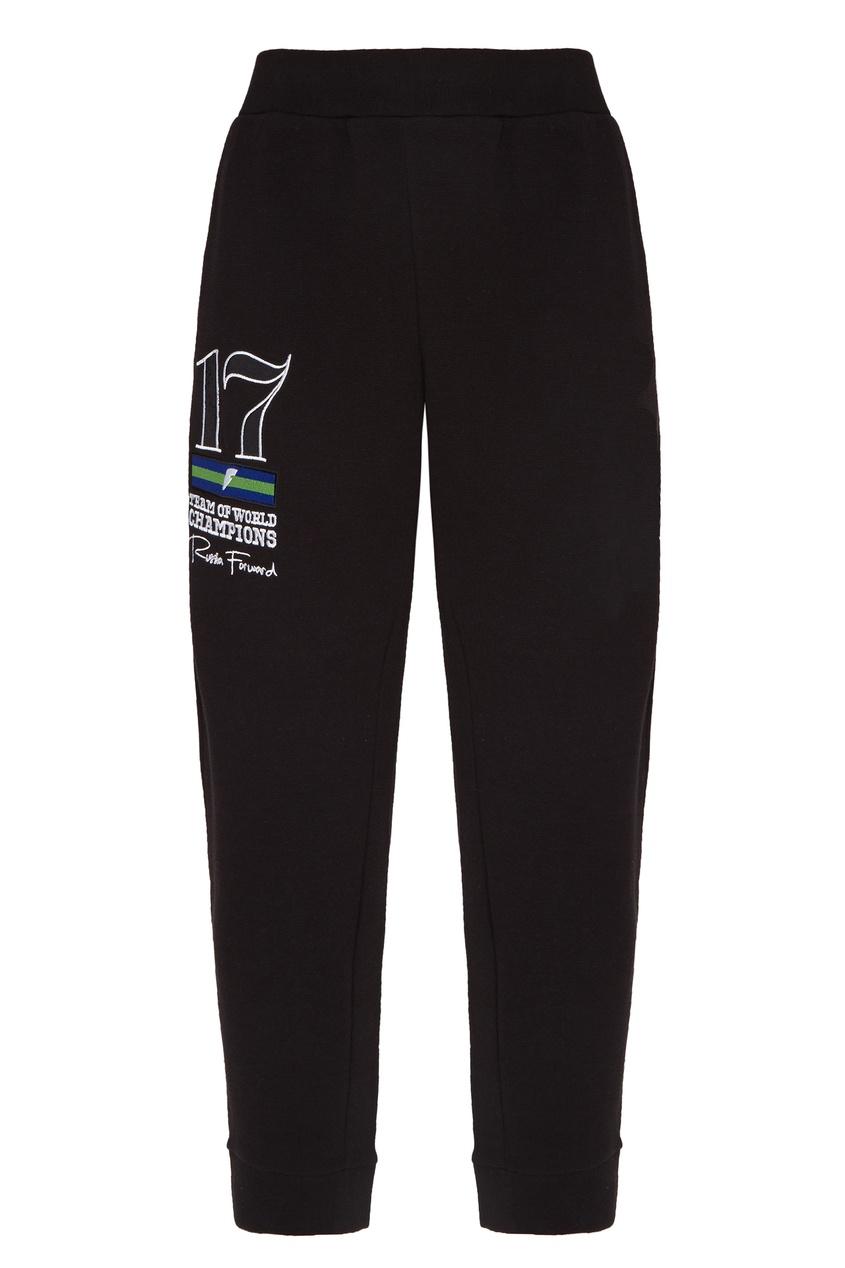 Купить Черные трикотажные брюки от FWDlab черного цвета
