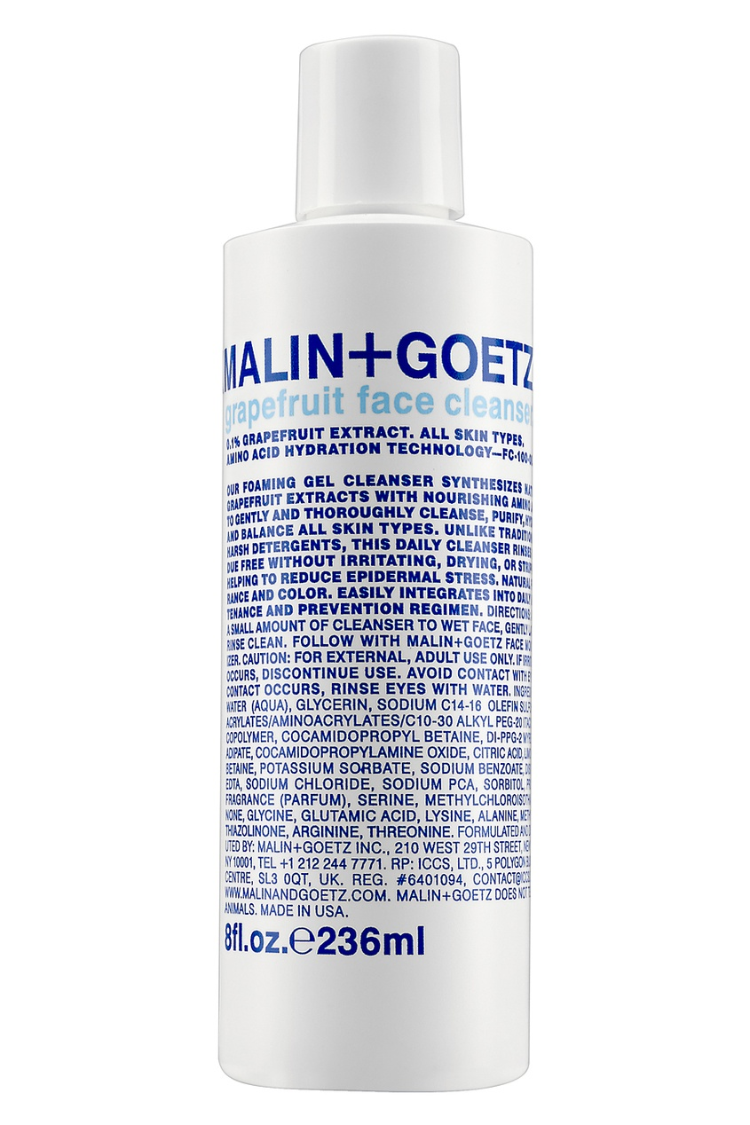Malin+Goetz Гель для умывания Grapefruit Face Cleanser 236ml malin goetz гель для умывания grapefruit face cleanser 236ml