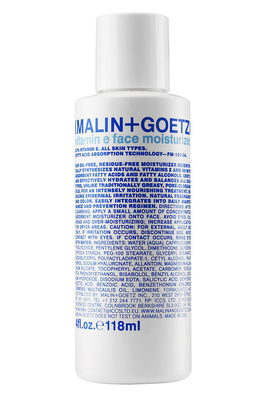 Malin+Goetz Увлажняющий крем для лица Vitamin E Face Moisturizer 118ml крем librederm vitamin e cream antioxidant for face 50 мл