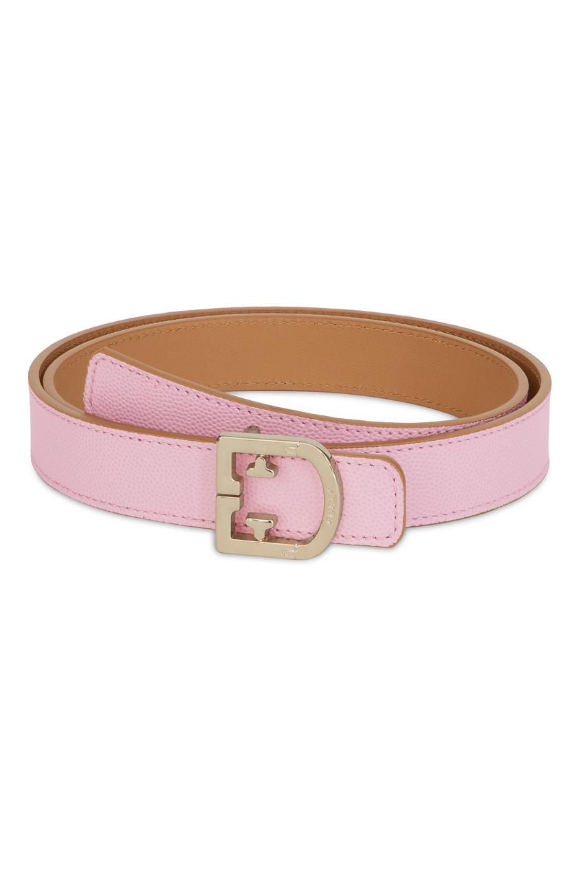 Купить Розово-коричневый ремень из кожи розового цвета