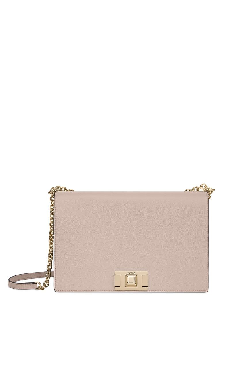 Купить Пудровая сумка Mimi' бежевого цвета
