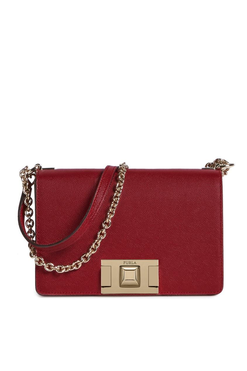 Купить Бордовая сумка-кроссбоди Mimi' красного цвета